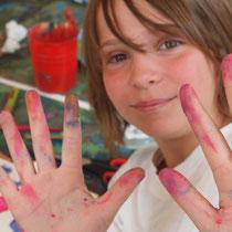 Kinder Workshop kreativ Malwerk Sandra Zenker