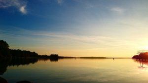 Sonnenaufgang Fleesesee Strandbad Malchow Foto Judith Kenk